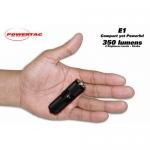 PowerTac E1 LED Keychain with CREE XM-L LED 350 Lumens-Uses 1 x CR123A