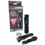PowerTac Flashlight M6 - 1300 Lumen w/Magnetic Charger / Magnetic Tailcap