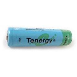 Tenergy 18650 3.7V 2600mAh Button Top Rechargeable Battery w/ PCB