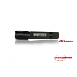 PowerTac Cadet II 400 Lumens CREE XPG LED, Uses 2 x CR123