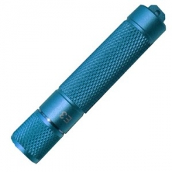 PowerTac E3 LED Keychain Flashlight, Blue with CREE XP-E LED 90 Lumens-Uses 1 x AAA