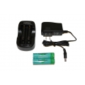 Tenergy 2 Pcs 18650 Li-Ion 3.7V 2600mAh Button Top Rechargeable Batteries w/PCB, Charger