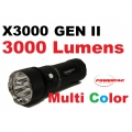 PowerTac X3000 Gen II Flashlight - 3000 Lumens